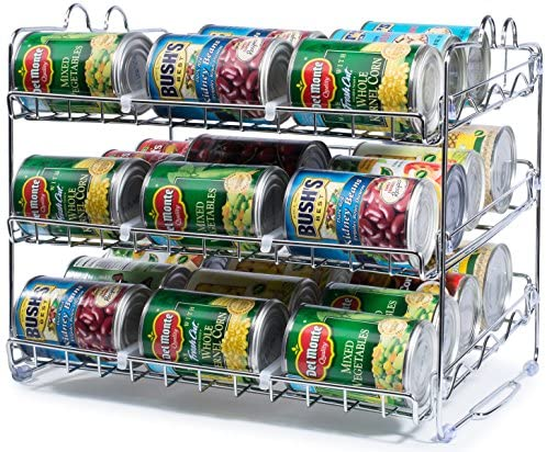Read more about the article Stackable Can Rack Organizer, Storage for 36 cans – Great for the Pantry Shelf, Kitchen Cabinet or Counter-top. Stack Another Set on Top to Double Your Storage Capacity. (Chrome Finish)