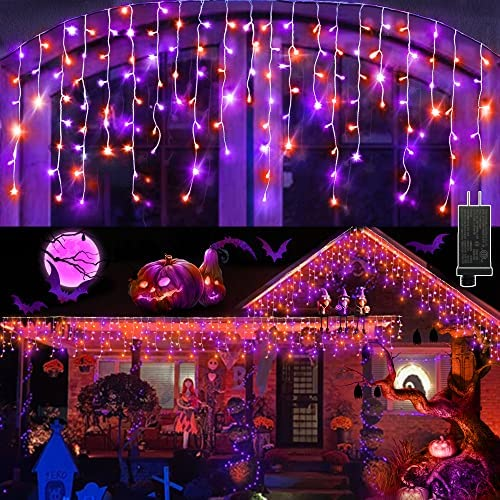 Read more about the article Halloween Lights Outdoor 640 LED 65.6ft Curtain String Light, Fairy Halloween Lights Indoor Decor with 8 Modes for Home Window Halloween Party Decorations (Purple & Orange)
