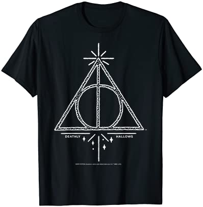 Read more about the article Harry Potter Deathly Hallows Symbol Line Art T-Shirt